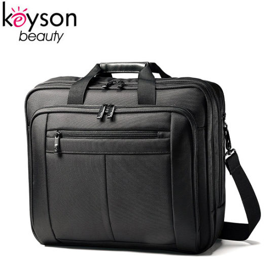 Classic Style Black Polyester Business Laptop Bag with Shoulder Straps pictures & photos