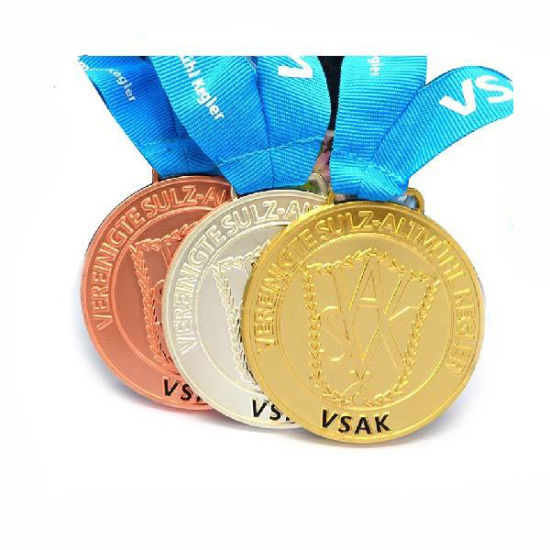 Promotional Sports Game Custom Metal Medal with Ribbon