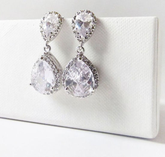 Wedding CZ Earring Necklace Jewelry, Bridal CZ Earring Jewelry, Gift CZ Earring Jewelry, Bridesmaid Earring pictures & photos