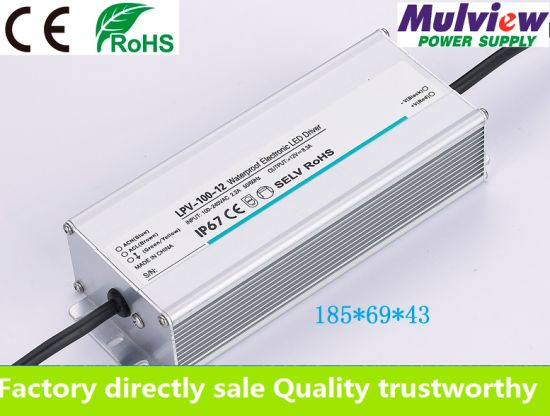 IP67 12V8.3A 100W Outdoor Waterproof Constant Voltage AC DC Regulated Switching LED Driver Ce RoHS