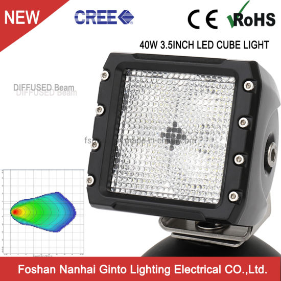 Square 40W 3.5inch 12V CREE LED Car Work Light Lamp for Offroad Tractor Truck Forklift Mining (GT14105)