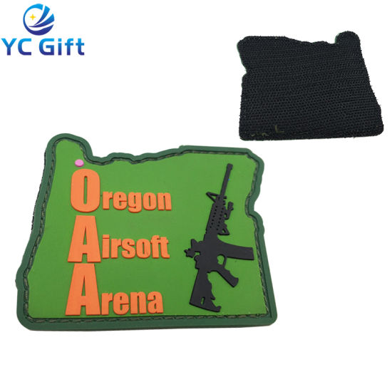 Factory Customized Military Tactical Gear Police PVC Soft Rubber Patches Fashion Garment Decorative Sticker Label Tag with Logo (PT06-A)