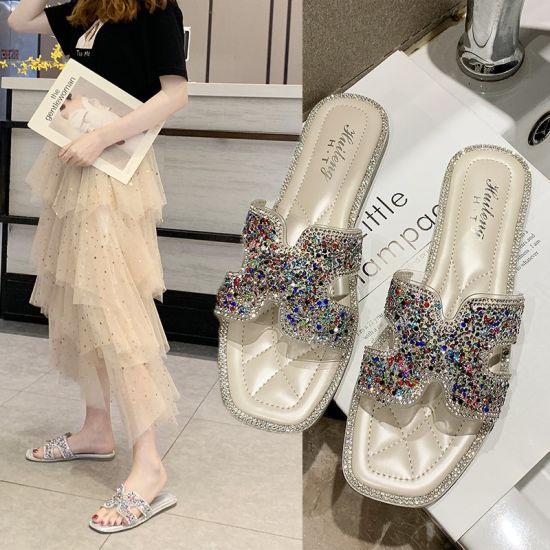 China Factory Trendy Women Cheaper Sandals