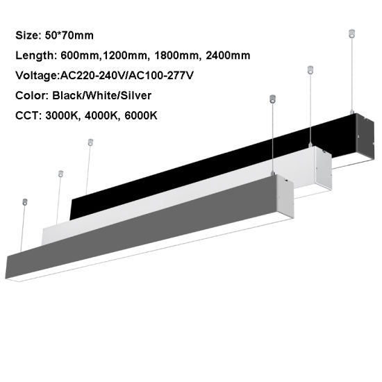 1.8m 60W LED Panel Light Suspension Recessed LED Linear Light with 5 Years Warranty