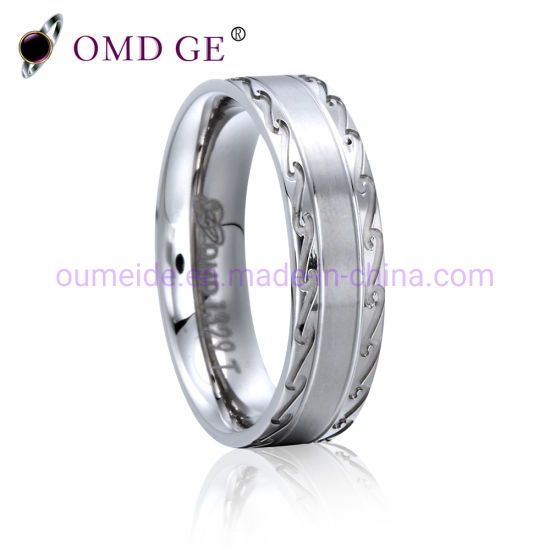 Engraved 925 Sterling Silver Fashion Jewelry Wedding Ring