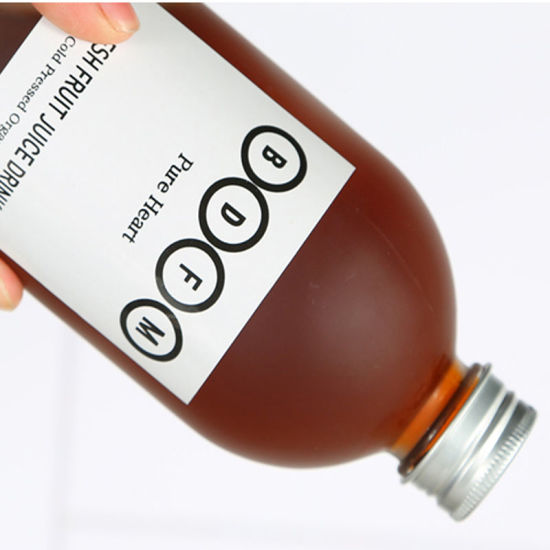 New Aluminum-Capped Coffee Glass Bottle for High-Grade Juice Beverage