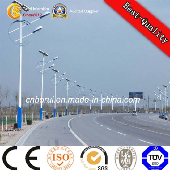 3-15m Steel Solar Power Street LED Lighting Pole pictures & photos