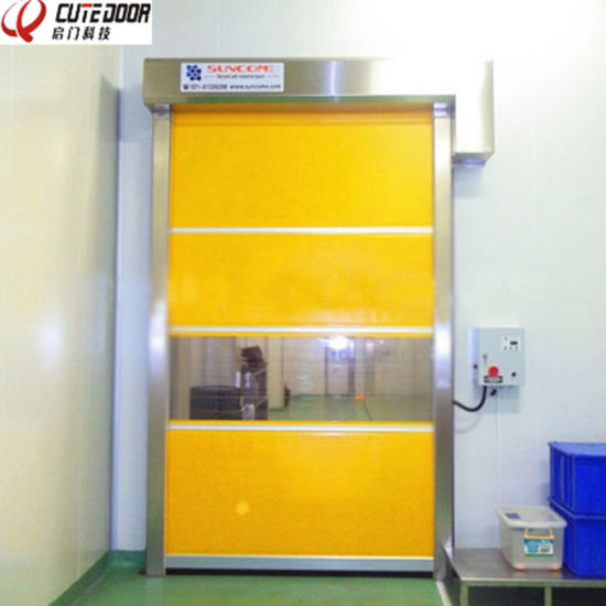 Flexible PVC Automatic Clean up Roller Shutter Door pictures & photos