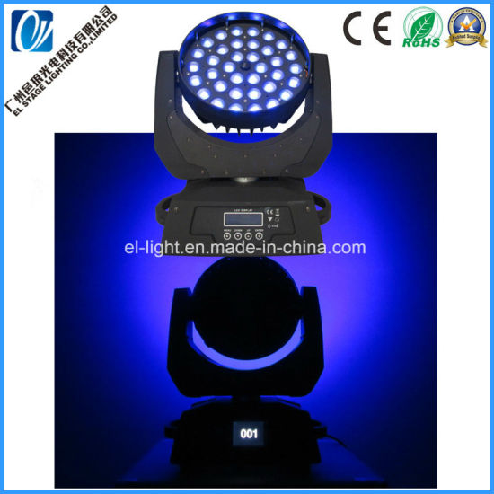Super Bright Silent Working 36*15W LED Wash Zoom Moving Head Stage Light Ceiling Light