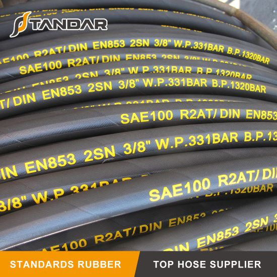 Wire Braided Hydraulic Rubber Oil Hose for Truck Crane