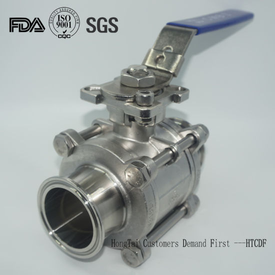 Stainless Steel Three Piece Sanitary Ball Valve for Brewing Industries
