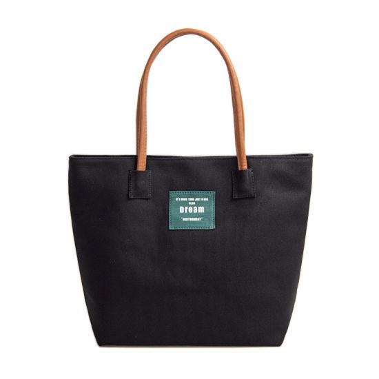 Fashion Shoulder Bags Eco Friendly Women Handbags Ladies Canvas Tote Bags