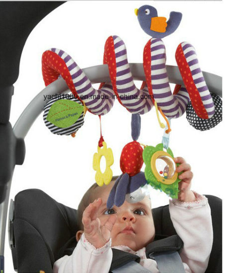 Ce Certificate Newborn Hanging Baby Safety Toy Price with Rattle