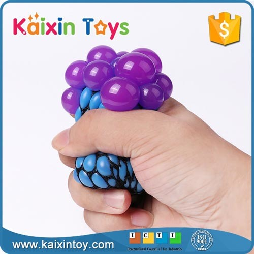 Squishy Mesh Ball& Squeeze Toy with Beads Ball Toy