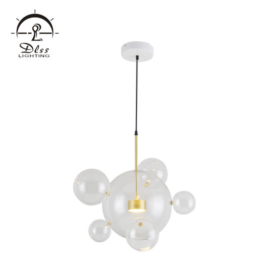 Ttaly Style Modern Glass Transparent Pendant Lamp for Living Room Wholesale