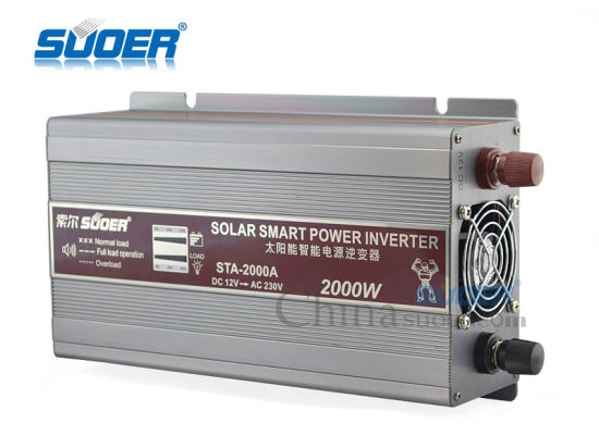 Suoer Power Inverter 2000W Solar Inverter 12V to 220V (STA-2000A) pictures & photos