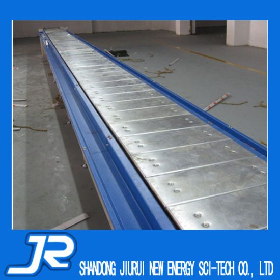 Ce Certificate Punching Hole Trackmounted Chain Plate Conveyor Belt with Guard pictures & photos
