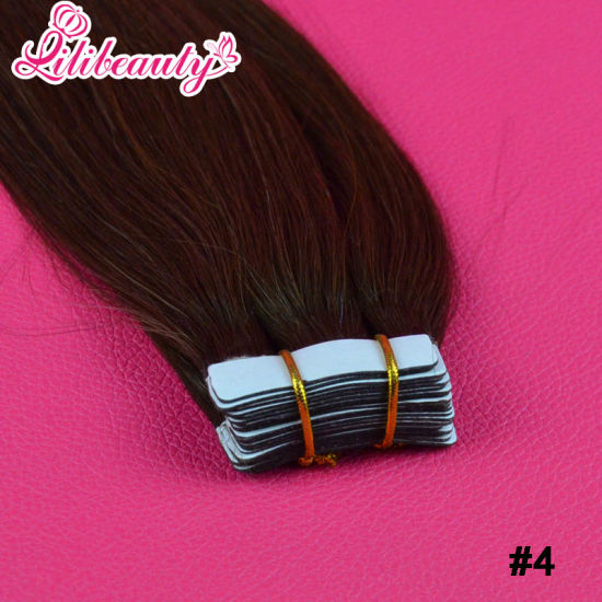 8A Virgin Brazilian Human Invisible PU Skin Tape Hair Extension pictures & photos