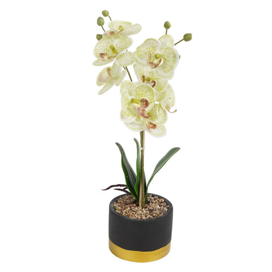 2020 New Arrive Home Tabletop Centerpiece Decor Potted Artificial Flowers with Ceramic Base