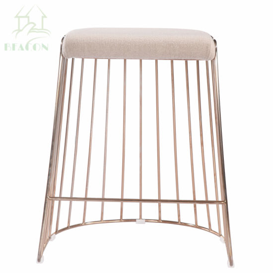 Swell China Metal Powder Coating Ottoman Bar Stool With Seat Pad Forskolin Free Trial Chair Design Images Forskolin Free Trialorg