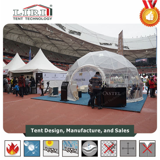 Small Transparent Half Sphere Geodesic Tent for Sports Event Showroom & China Small Transparent Half Sphere Geodesic Tent for Sports Event ...