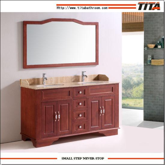 Classical Wooden Bathroom Cabinet/Wooden Bathroom Furniture/Bath Room Furniture (T9092)