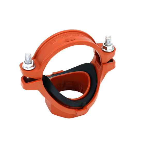FM/UL Certificated Ductile Iron Pipe Fittings Threaded Mechanical Tee for Water Supply