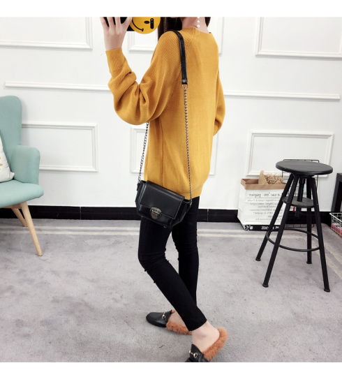 Strong Elastic Long Sleeve Winter Slim Fit Pullover Woman Half Turtleneck Sweater pictures & photos