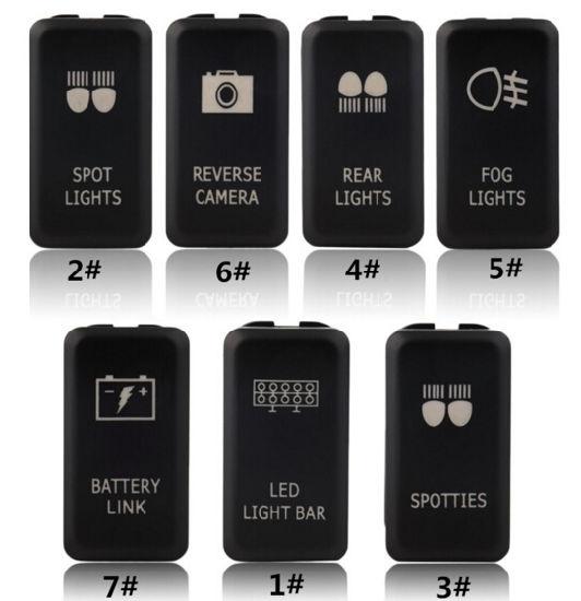 12V 20A Red LED Light Laser Rocker Switch Car Truck Backlit Fog lights 5 Pins
