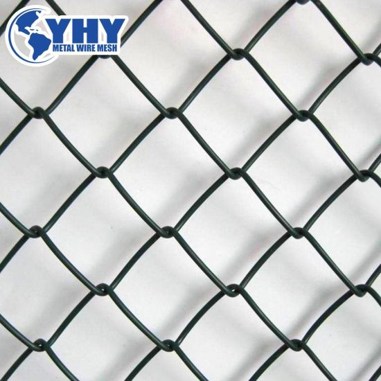 China PVC Coated Diamond Wire Basketball Court Chain Link Fence ...