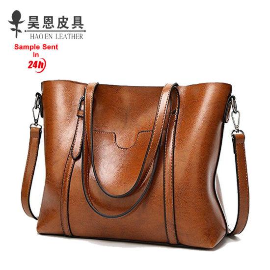 Guangzhou Factory Stocks Wholesale New PU Leather Fashion Designer Women Female Fashionable Tote Ladies Luxury Handbag