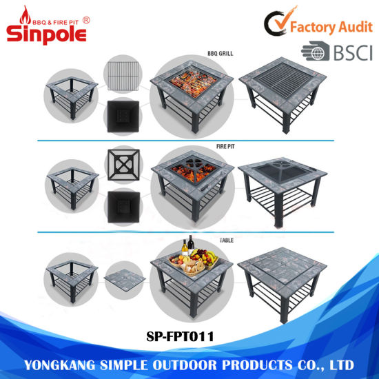 Stainless Steel Fire Pit 3-in-1 Multi-Purpose BBQ Grill pictures & photos