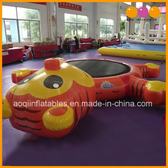 Water Play Equipment Cute Tiger Inflatable Water Trampolin for Adults and Kids (AQ3104) pictures & photos