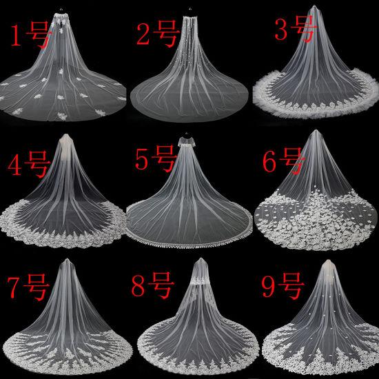 Wholesale 3.5m Length 3m Width Long Soft Tulle Bridal Veils