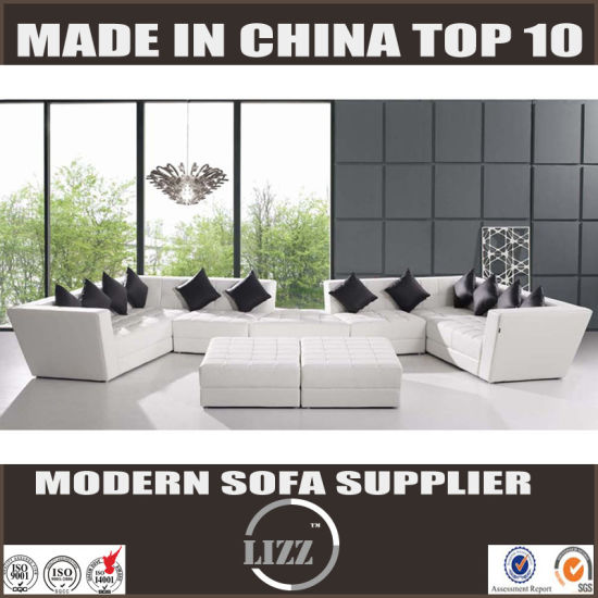 China Miami Contemporary Simple Furniture Sectional Leather Sofa