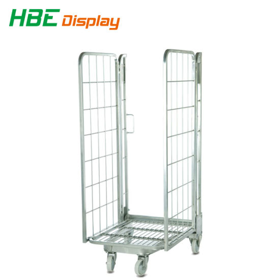 Rust Free Steel Logistic Cart, Industrial Folding Laundry Trolley Wheels pictures & photos