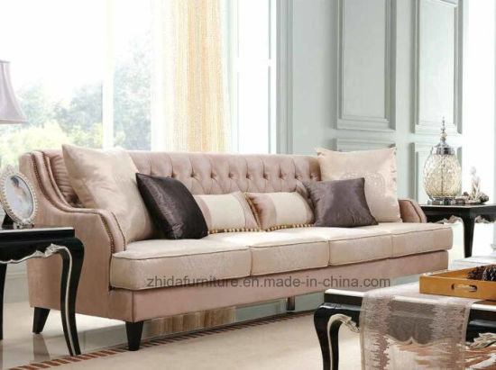China American Style Living Room Fabric Sofa Set (S6957) - China ...