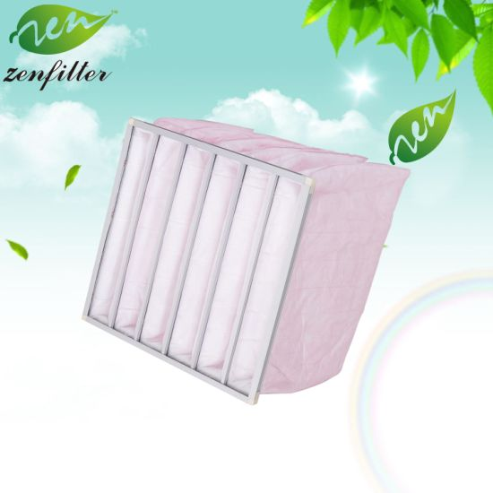 Industry Bag Air Filter and Synthetic Fiber Pocket Air Filter for Air Cleaning