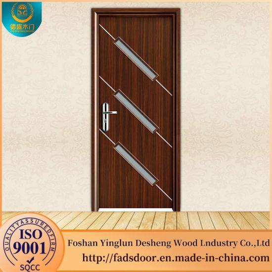 China Desheng Lateset Design Office Wood Door With Glass China