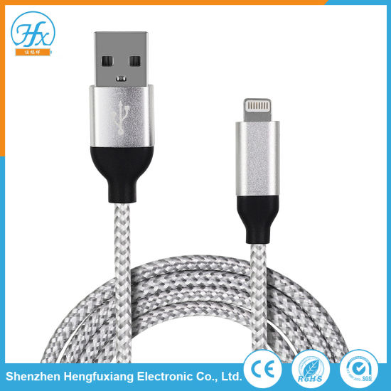 Mobile Phone Accessories USB Data Charging Lightning Cable for iPhone X