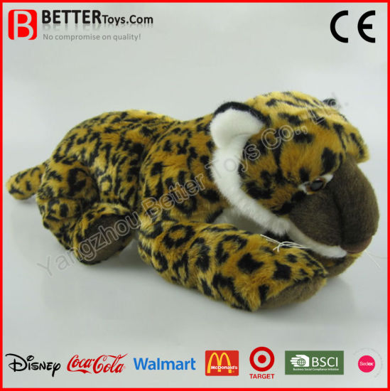 China En71 Realistic Plush Stuffed Animal Soft Leopard Toy For