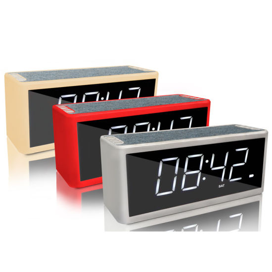 New Portable TF FM Alarm Clock Bluetooth Wireless Dual Bass Sound Speaker S053