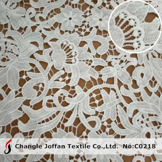 Fashion Fabric Lace Chemical Milk Polyester Lace for Garment (C0218)