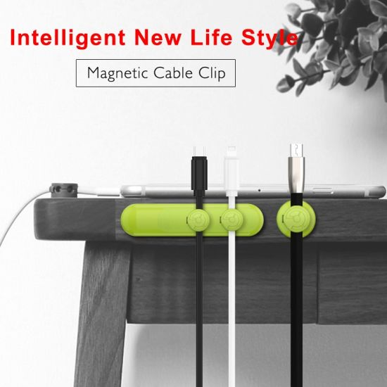 China Desktop Magnet Wire Clamp Holders USB Cable Wire Organizer ...