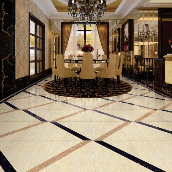 China Ceramic Polished Porcelain Tile Bathroom Floor Tile For Hotel