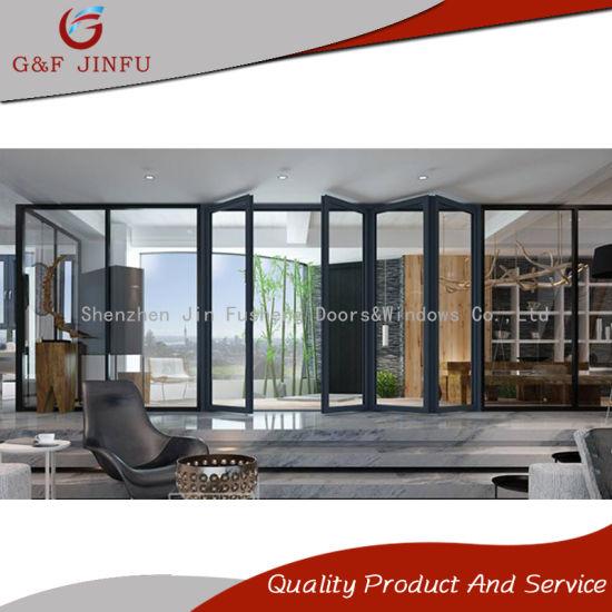 Gf jinfu best quality aluminum alloy luxury folding door