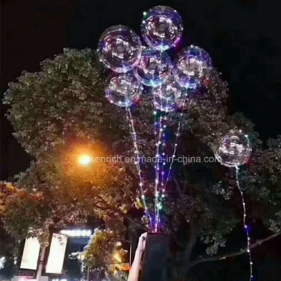 Helium Bobo Balloons with LED String Light for Holiday Decoration pictures & photos