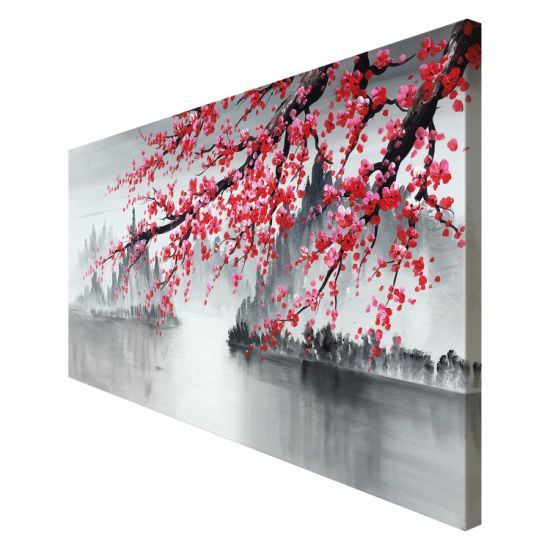 Hand Painted Plum Blossom Flower Canvas Wall Art Traditional Chinese Oil Painting pictures & photos
