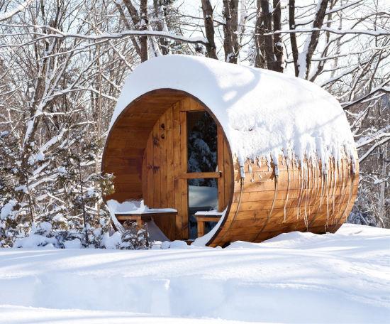 Best Seller Attractive Sauna Cabins Barrel Sauna with Sauna Stove