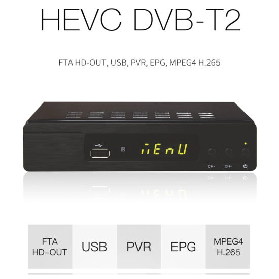 DVB-T2/T WiFi H. 265/Hevc/H. 264 Receiver Full HD 1080P Dolby Digital pictures & photos